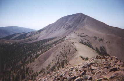 Looking South at Arc Dome. Arc Dome Wilderness, Nye County, Nevada ...